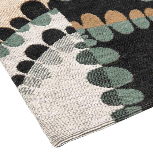 tapis bleu vert et gris 90x150 maisons du monde