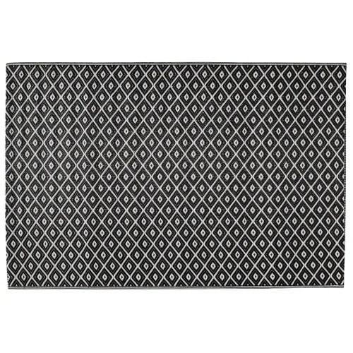 tapis d exterieur en polypropylene noir blanc 120x180 maisons du monde