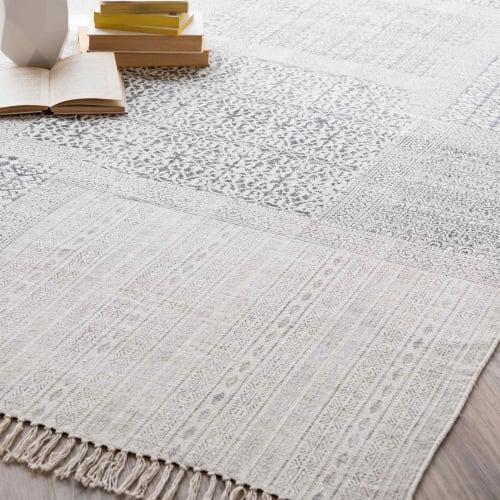 tapis en coton 140 x 200 cm maisons du monde