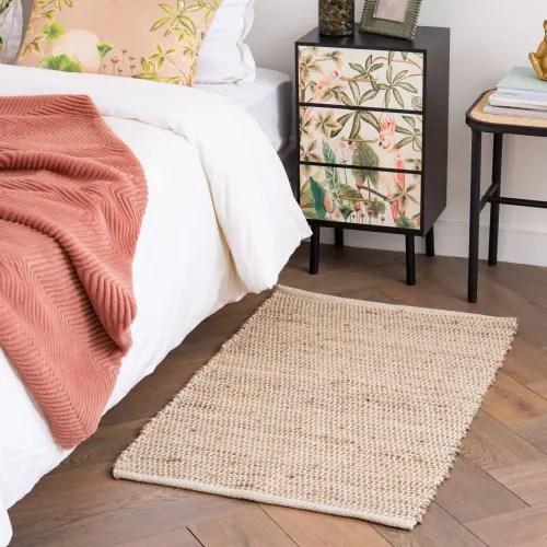 tapis en coton et jute 60x90 maisons du monde