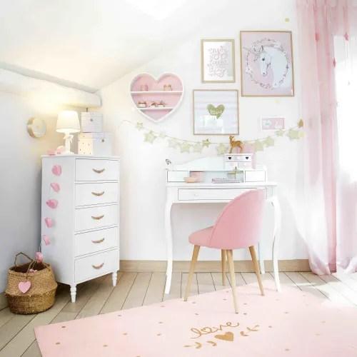 tapis en coton imprime rose et dore 120x180 maisons du monde