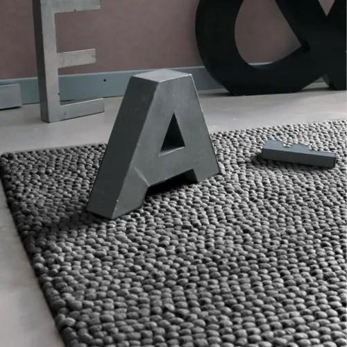 tapis en laine gris 160 x 230 cm maisons du monde