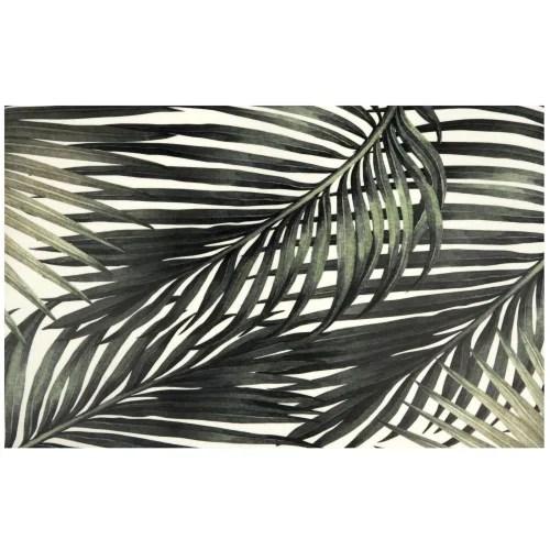 tapis en vinyle imprime feuilles tropicales 50x80 maisons du monde