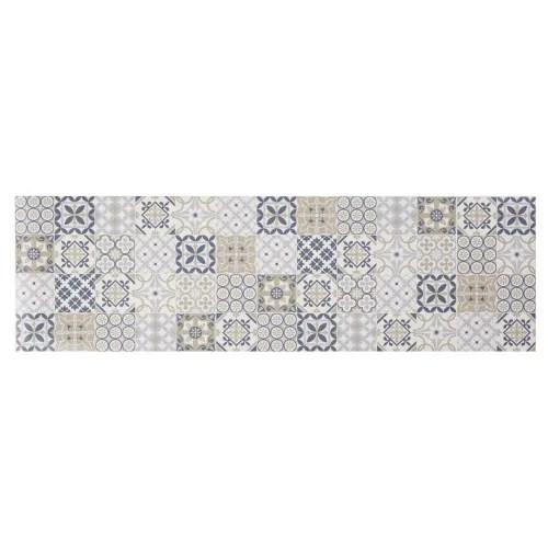 tapis en vinyle motifs carreaux de ciment multicolores 60x199 maisons du monde