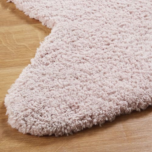 tapis etoile rose 100x100 maisons du monde