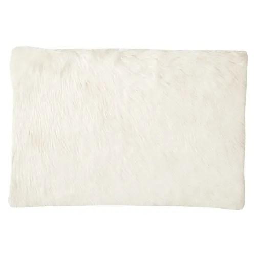 tapis imitation fourrure blanche 80x120 maisons du monde
