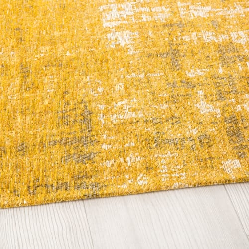 tapis jaune moutarde motifs jacquard 200x290 maisons du monde