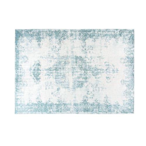 tapis vert d eau motifs jacquard 200x290 maisons du monde