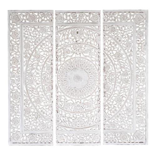Triptyque Sculpte Blanc 150x150 Andaman Maisons Du Monde