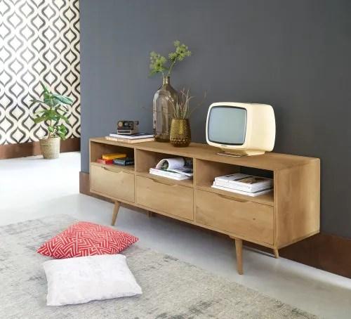 tv lowboard im vintage stil aus mangoholz maisons du monde
