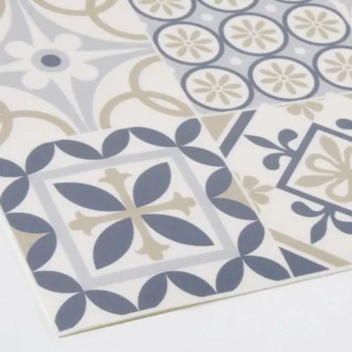 vinyl teppich mit bunten zementfliesen motiven 60x199 maisons du monde