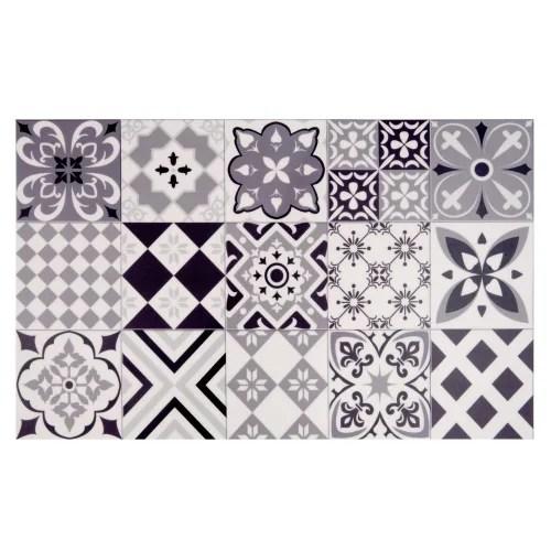 vinyl teppich mit zementfliesen motiven 50x80 maisons du monde