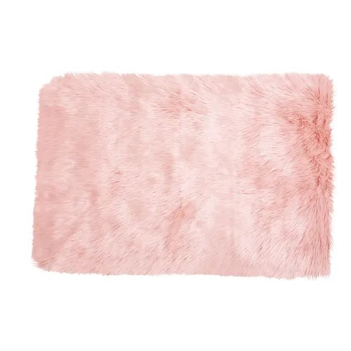 webpelzteppich aus rosa kunstfell 80x120 maisons du monde