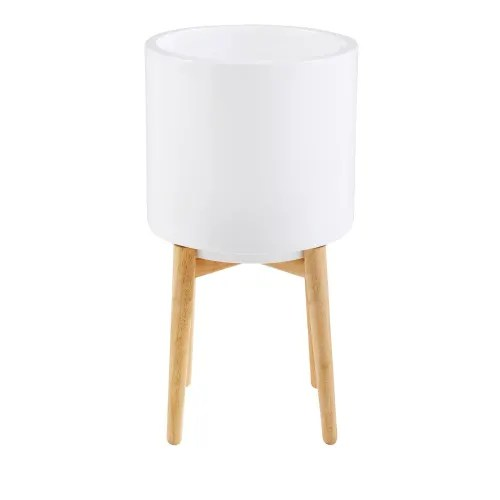 white ceramic planter h 60 cm maisons du monde