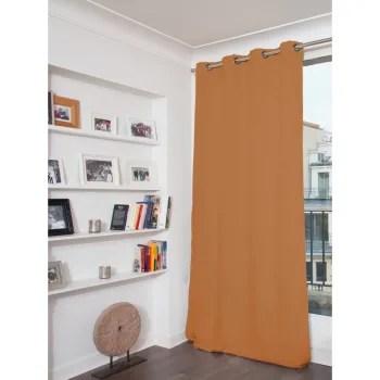 rideau occultant total orange 135 x 260 maisons du monde