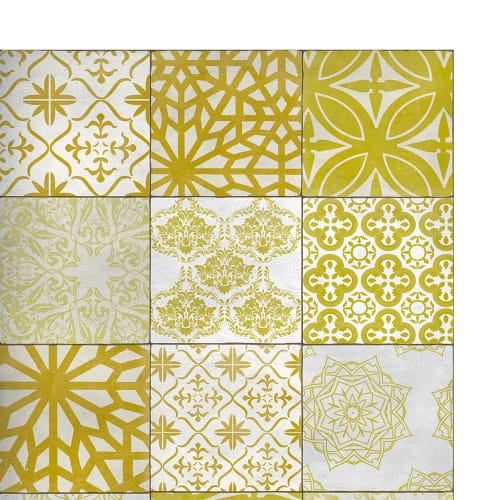 Eclectic Lace Tapis En Vinyle Motifs Carreaux De Ciment Jaune 60x97 Maisons Du Monde