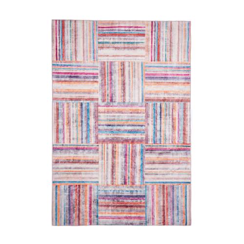 tapis cubisme design en polyester multicolore 80x150 maisons du monde