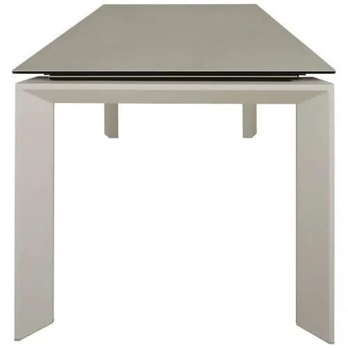 table ceramique extensible 140 x 90 cm avec allonge integree maisons du monde