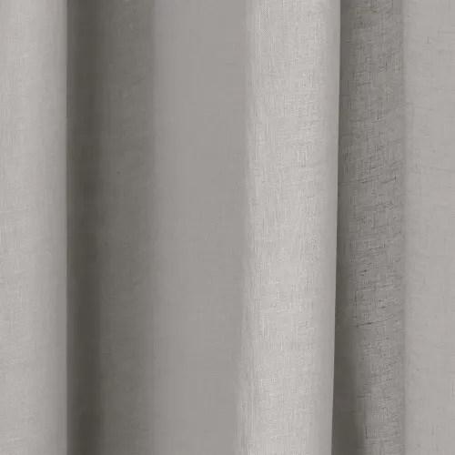 voilage a oeillets 200x298 cm gris clair maisons du monde
