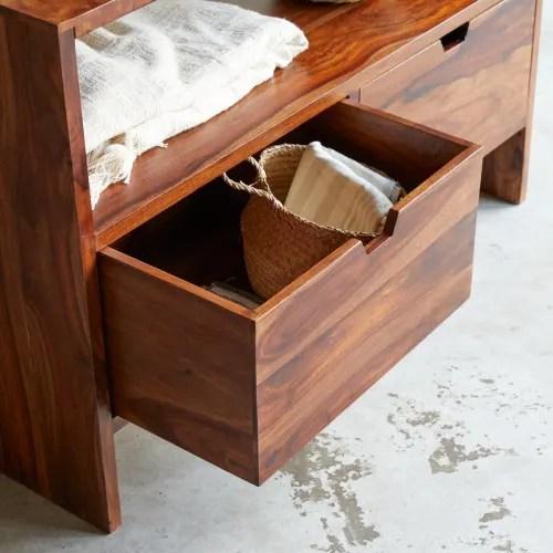 meuble sous vasque en bois de palissandre massif 110 maisons du monde