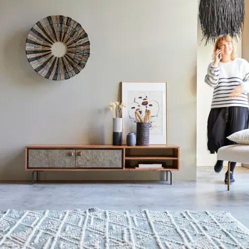 meuble tv en bois d acacia 160 temis maisons du monde
