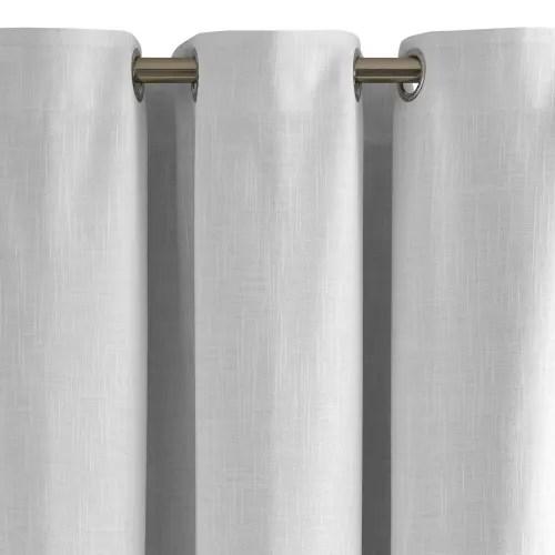 rideau oeillets double occultant 145x180 cm blanc maisons du monde