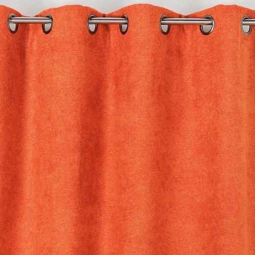 rideau obscurcissant aspect laine chinee polyester orange 250x140 maisons du monde