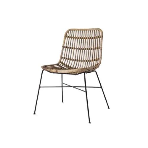 chaise en rotin naturel bois clair maisons du monde