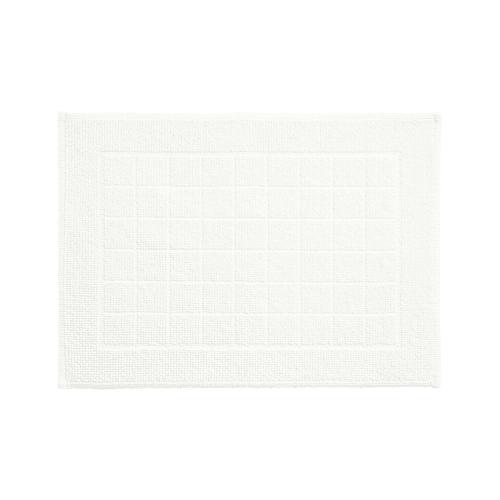 tapis de bain coton peigne blanc 50 x 70 cm maisons du monde