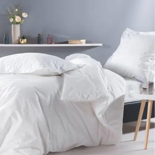 Drap Housse En Percale Blanc 120x190 Monteleone Maisons Du Monde