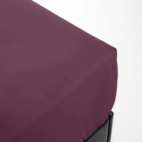 Drap Housse En Percale Violet 70x190 Percale Maisons Du Monde