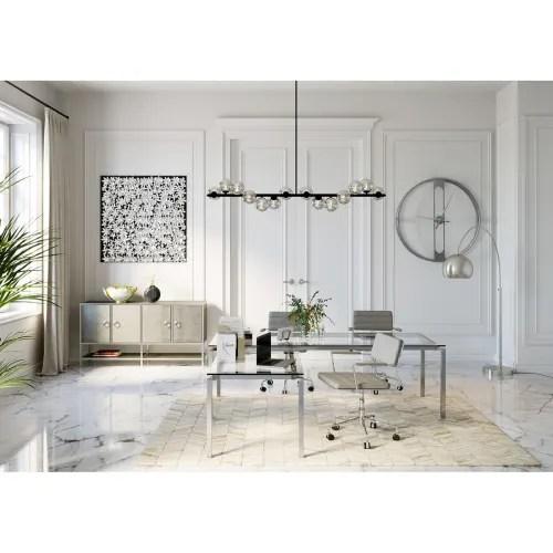 bureau d angle en verre et acier chrome maisons du monde