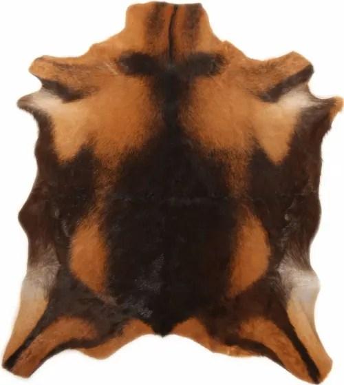 tapis peau de chevre marron 70x55 maisons du monde