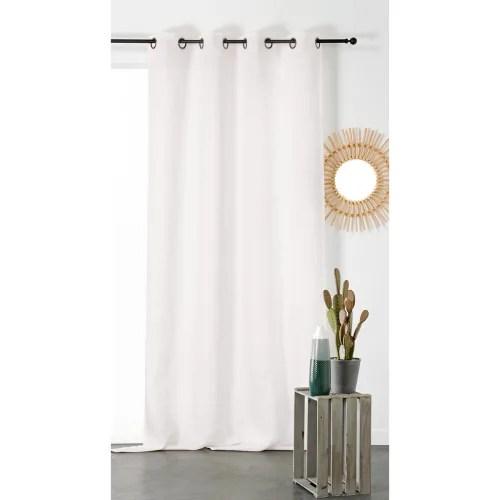 rideau tamisant et naturel en 100 lin lin blanc 260x145 maisons du monde