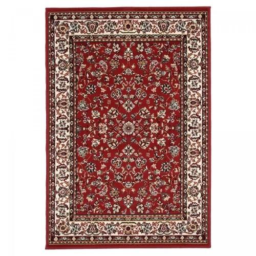 tapis d orient en polypropylene rouge 60x110 maisons du monde