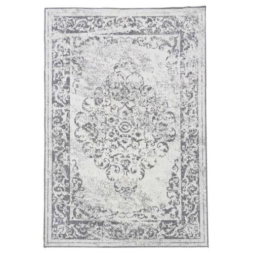 tapis exterieur en polypropylene argent 240x340 maisons du monde