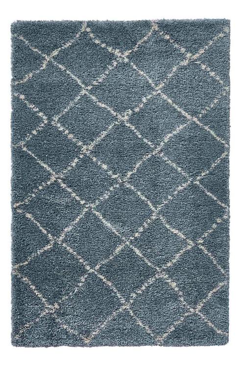 tapis shaggy nomad bleu 120x170 maisons du monde