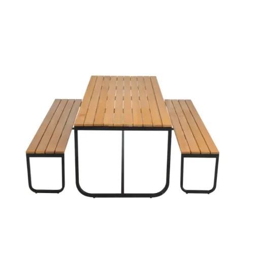 ensemble table de jardin avec bancs maisons du monde