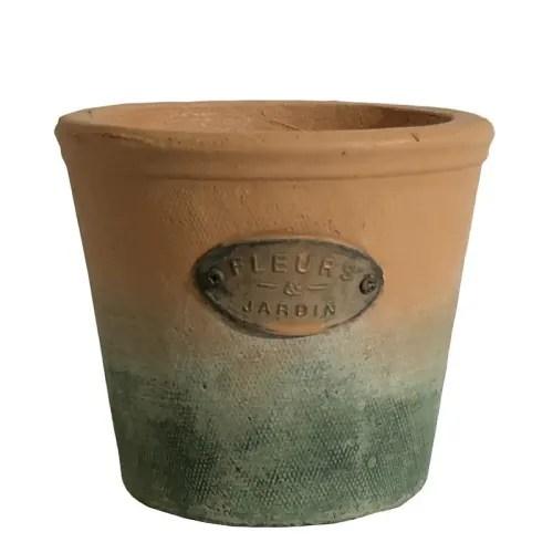 cache pot rond en terre cuite d14 maisons du monde