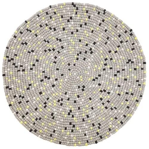 tapis rond gris clair d140cm maisons du monde