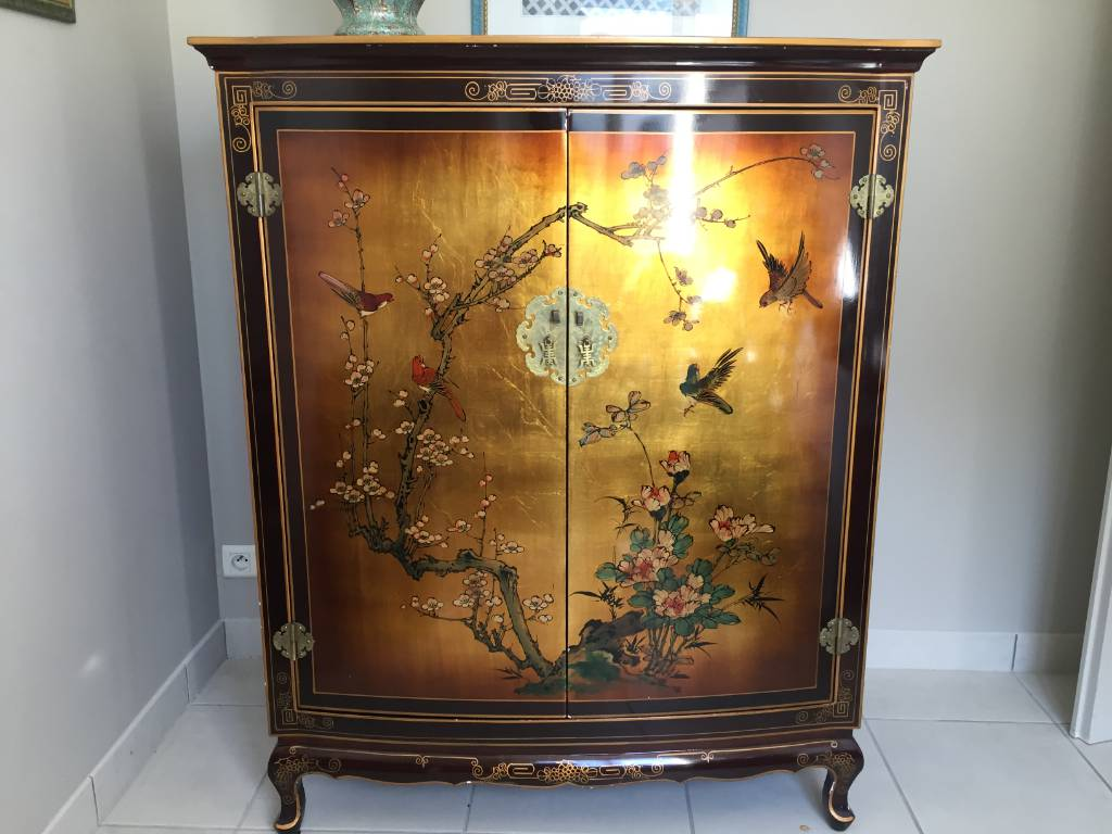 meuble chinois laque