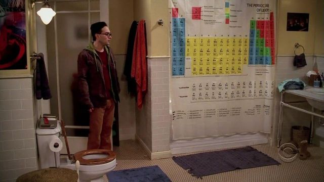 periodic table shower curtain as seen