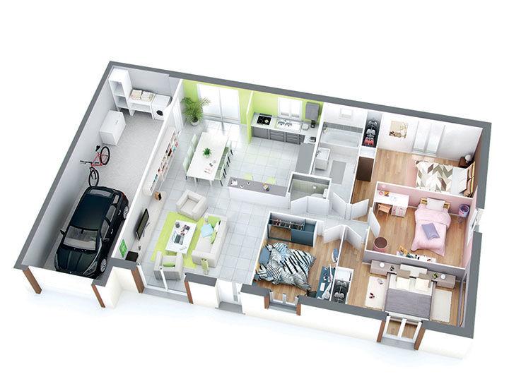 Plan Maison Individuelle Modle Isa Cuivre Top Duo