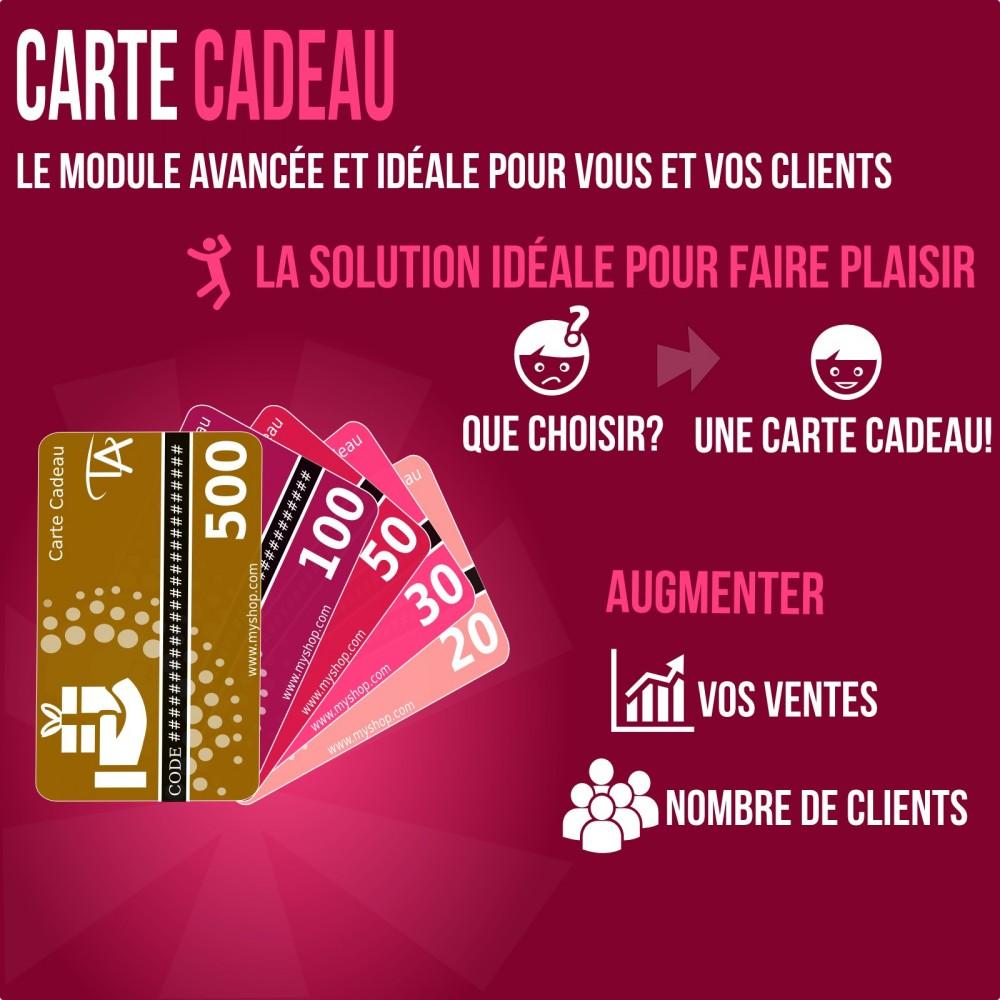 Carte Cadeau Solution Avance PrestaShop Addons