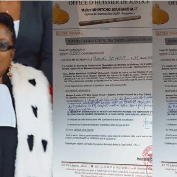 JUSTICE: LA PREMIERE PRESIDENTE DE LA COUR D'APPEL SUSPENDUE