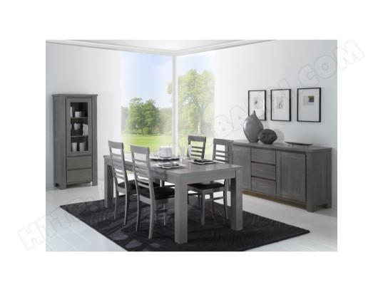 tousmesmeubles salle a manger complete bois massif gris gabriel n 2 l 150 x l 100 x h 75 15154 13934