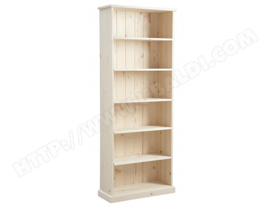 pegane etagere en bois brut avec 5 tablettes dim 71 x 26 x 180 cm pegane ma 82ca494etag fgna1