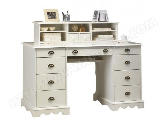 beaux meubles pas chers ensemble bureau et bibliotheque blancs 4050409