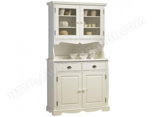 beaux meubles pas chers buffet vaisselier blanc 4 portes de style anglais 40822