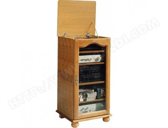beaux meubles pas chers meuble rangement hifi chene rustique dessus relevable 5615